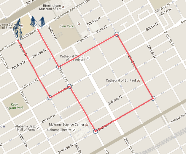 Veteran's Day Route